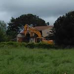 Maison en cours de démolition, impasse Alphand
