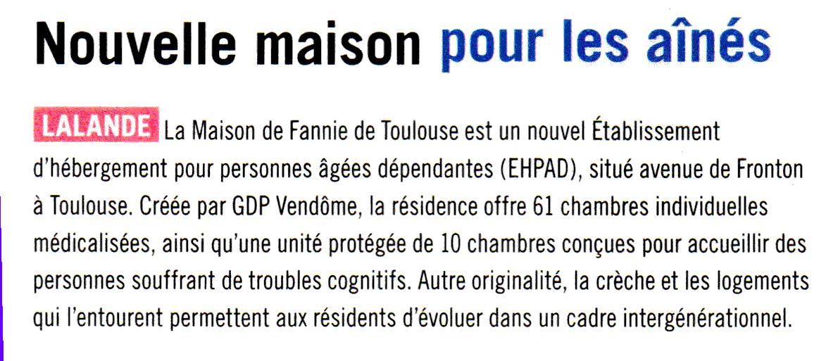 blog cql - nouvelle maison pour les ainés article à Toulouse déc14 janv15