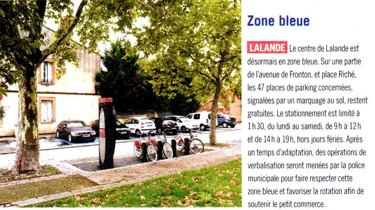 zone bleue - article à Toulouse N° 40