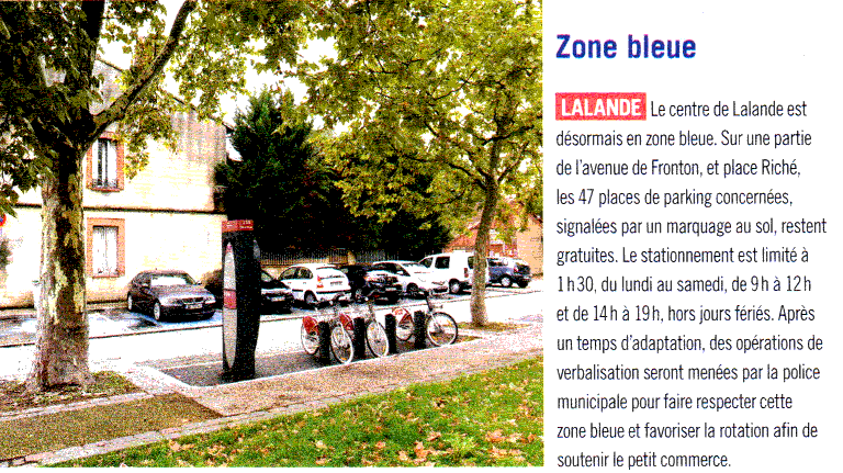 zone bleue - article à Toulouse N° 40