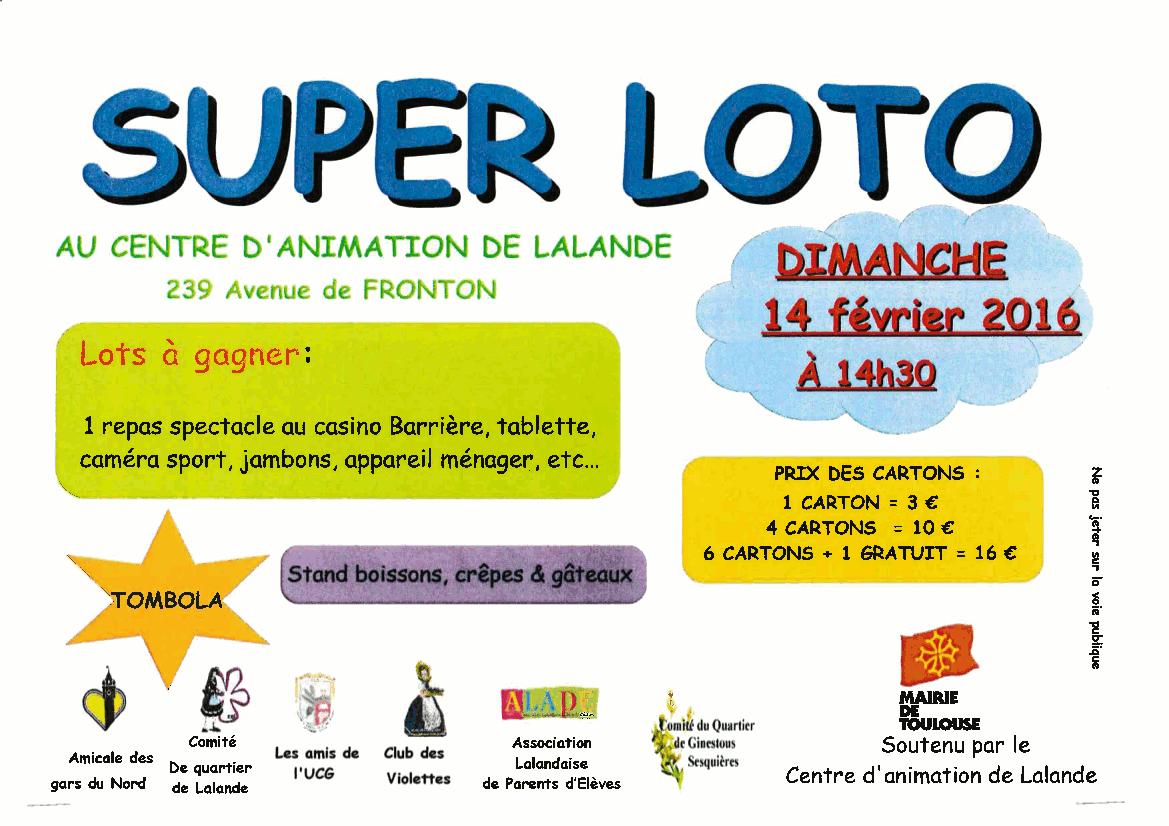 Affiche loto multi-associations du 14-02-16