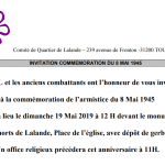 Commémoration du 8 mai 1945